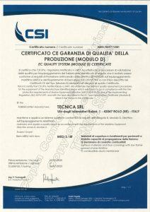 Certificato MED 1